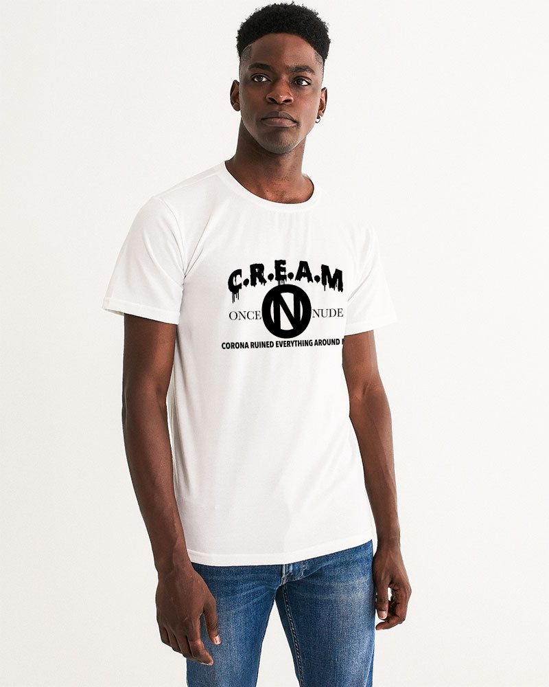 ONCE|NUDE x C.R.E.A.M [Charity T-Shirt Monochrome] Men's Graphic Tee - ONCE|NUDE