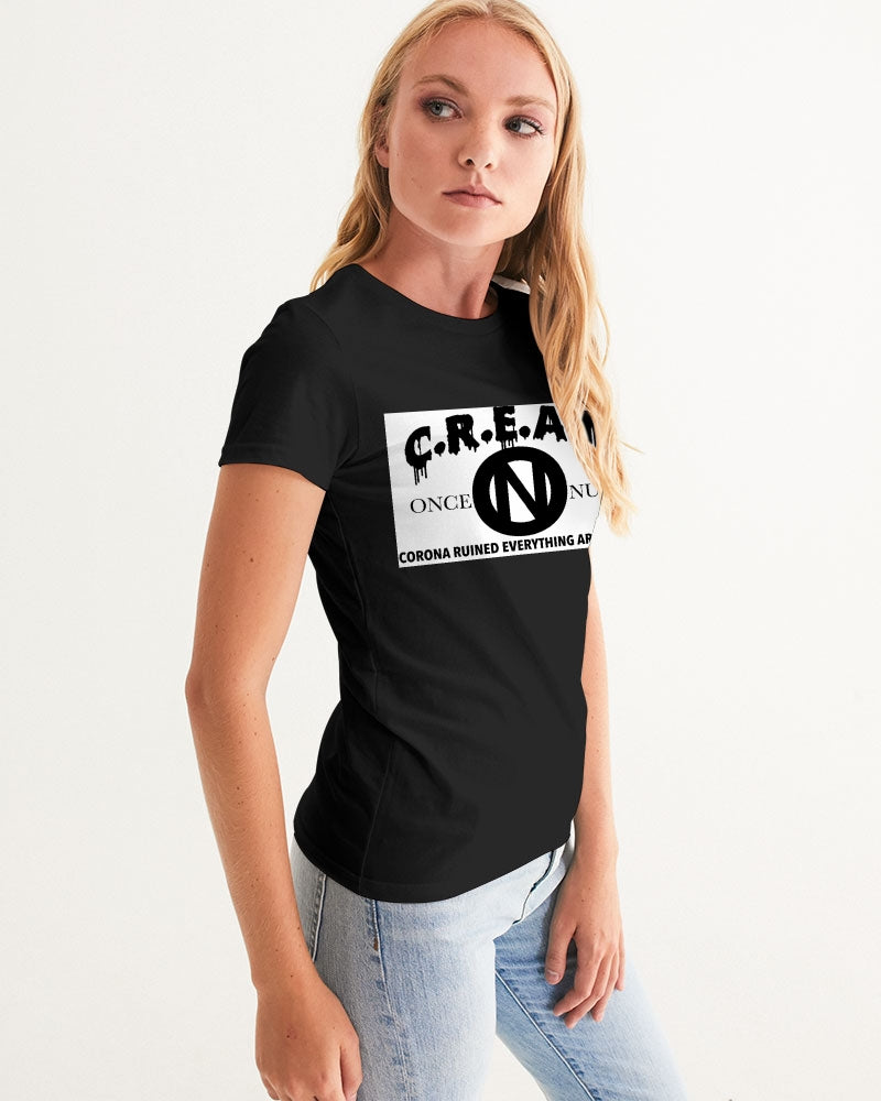 ONCE|NUDE x C.R.E.A.M [Charity T-Shirt Monochrome] Women's Graphic Tee - ONCE|NUDE