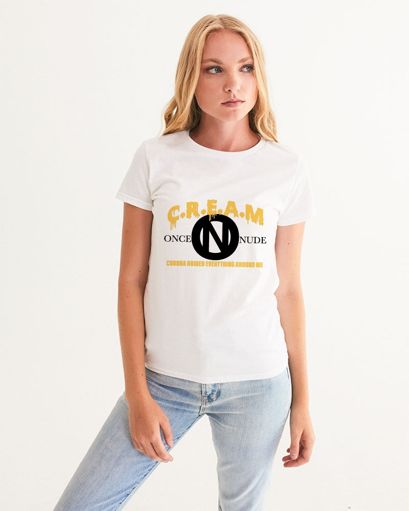 ONCE|NUDE x C.R.E.A.M [Charity T-Shirt Orange Creamsicle B] Women's Graphic Tee - ONCE|NUDE