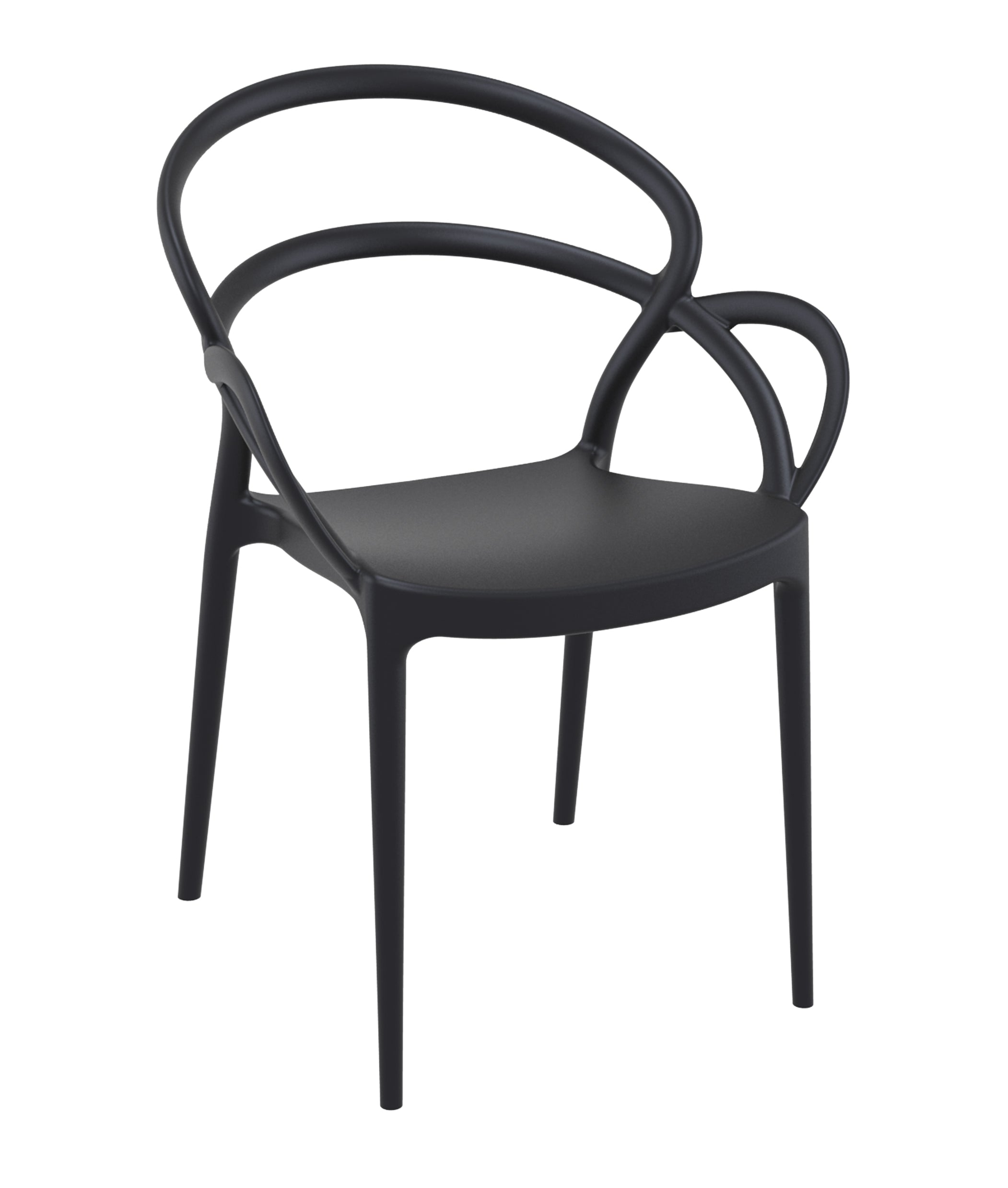 Marcos Outdoor Chair - Black