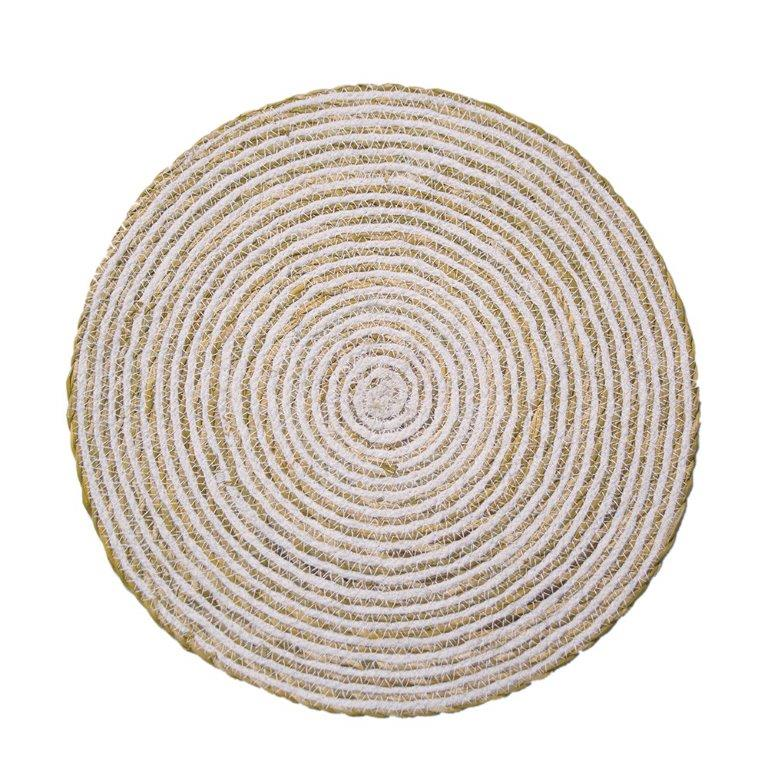 Round Placemat, Set of 8 Simply White