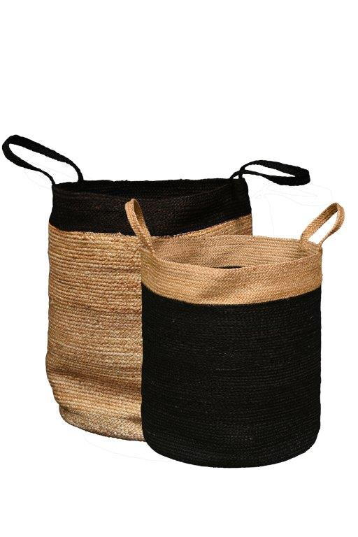 Tall Jute Baskets, Set of 2