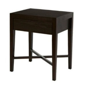Ascot Open Bedside Table- Mocha