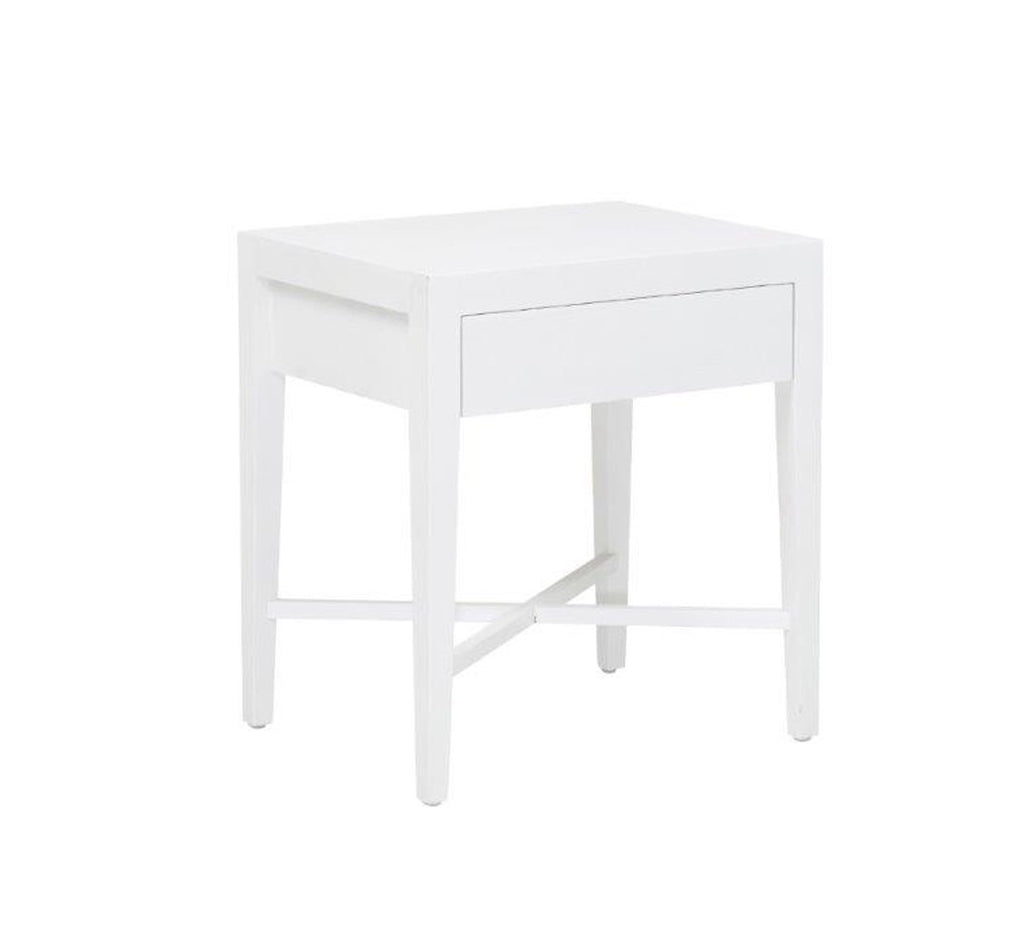 Ascot Open Bedside Table- White