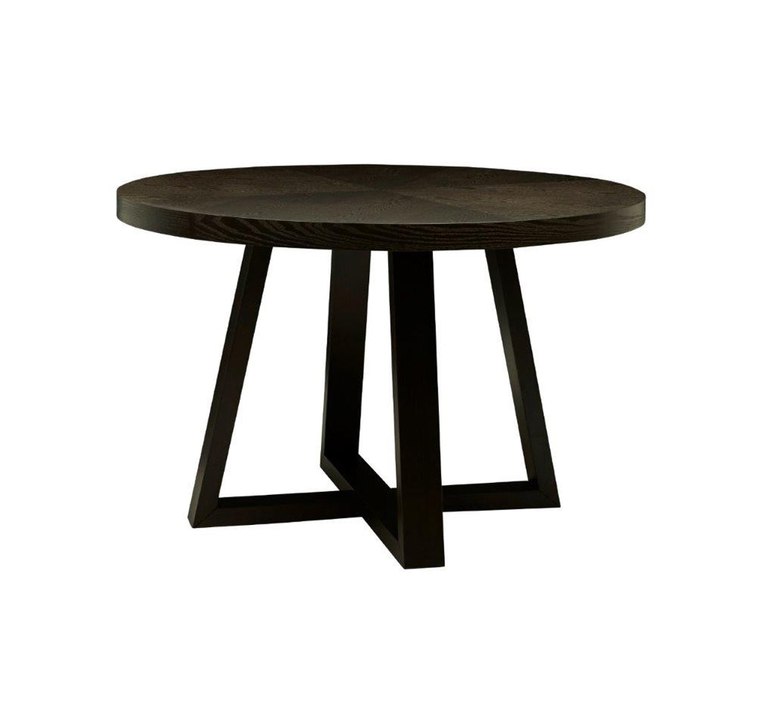 Ascot Round Dining Table - Mocha