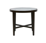 Ascot Glass Top Side Table - Mocha