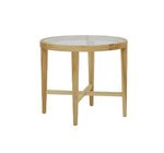 Ascot Glass Top Side Table - Natural