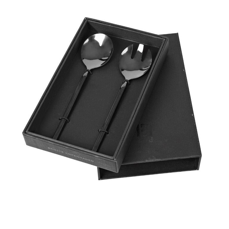 Tivoli Salad Server Set, Black