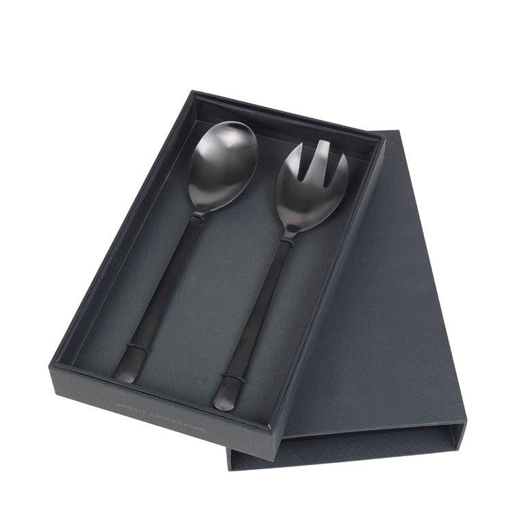 AVAILABLE TO ORDER  Hutton Salad Servers Matte Black