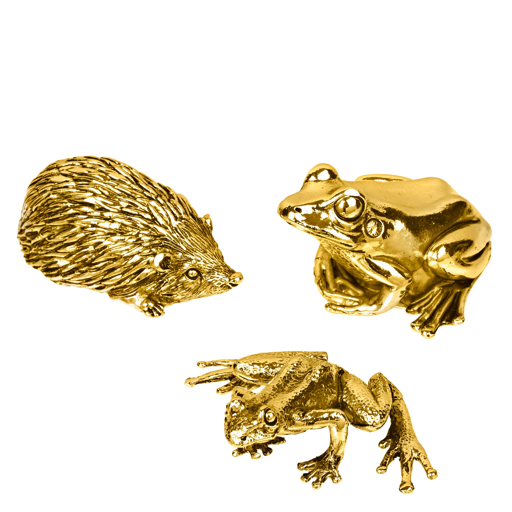 Deco Frogs & Hedgehog, Set of 3