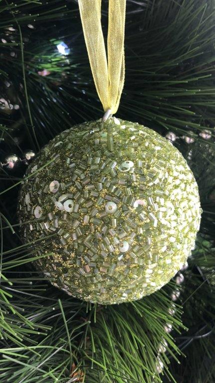 Beaded Bauble Lime