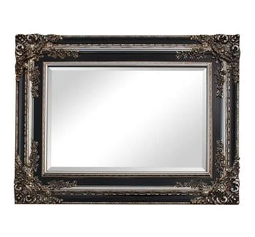 Black and Silver Ornate Mirror