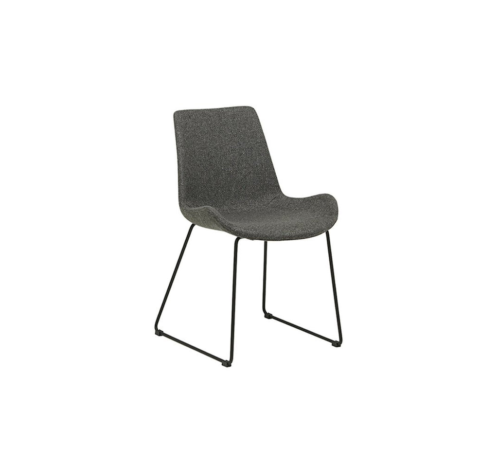 Cleo Dining Sleigh Leg Chair - Charcoal