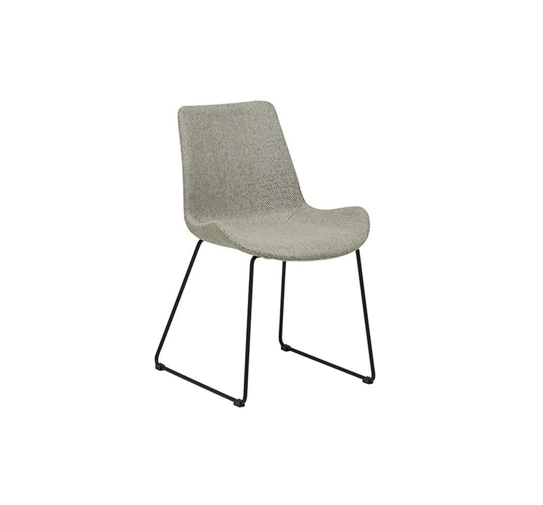Cleo Dining Sleigh Leg Chair - Putty