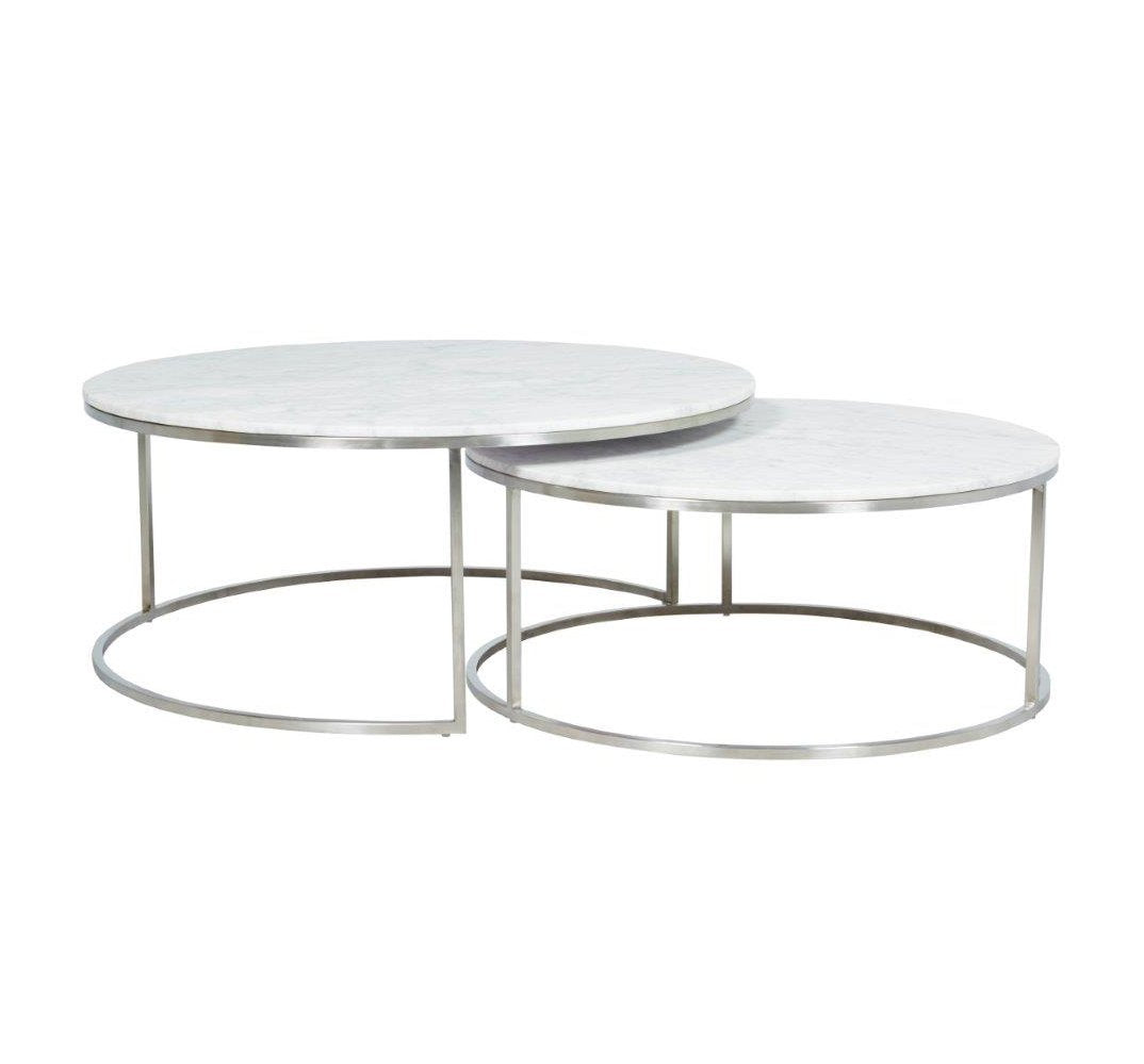 Elle Nest of Tables – Stainless Steel