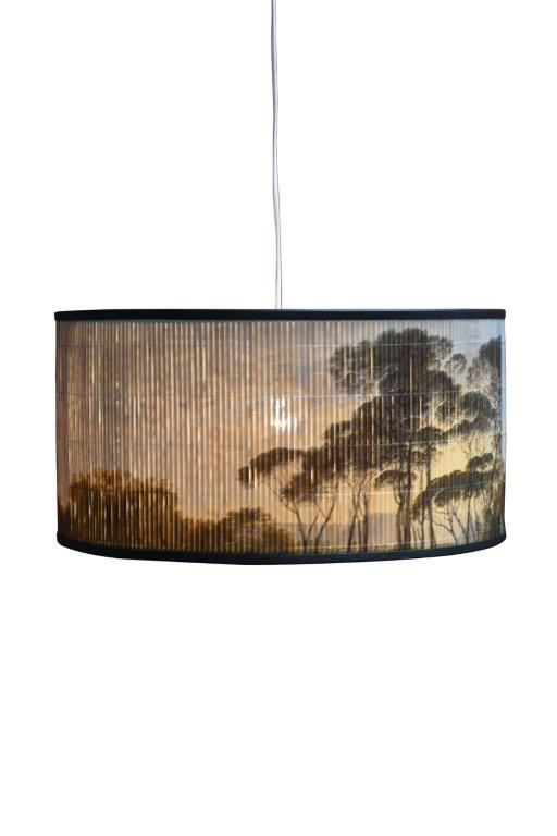 COMING SOON Round Sunset Bamboo Lampshade