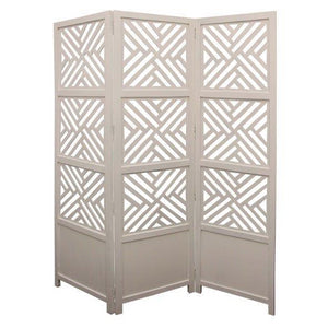 Marlow White 3 Panel Screen