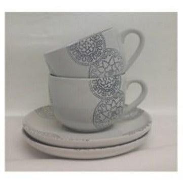Medallion Cups and Saucer Set