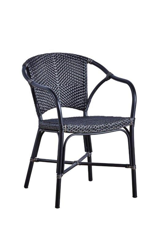 Valencia Exterior Arm Chair Black