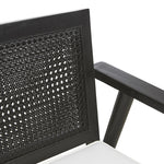 Anja Occasional Chair – Ebony and White