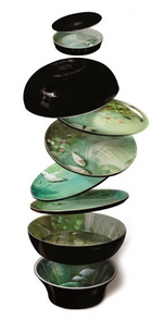 YUAN STACKABLE DISHES - NARCISSE