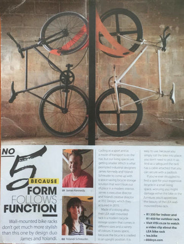 VISI 83 - Art of Living, LEA Bike Rack by Industrial designers, James Kennedy and Yolandi Schreuder