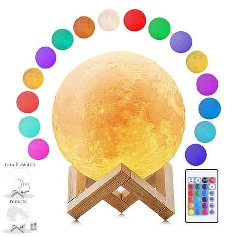 LED Dimmable Moon Shadow Night Light