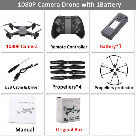Visuo XS816 RC Drone with 50 Times Zoom WiFi