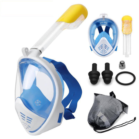 FULL FACE scuba SNORKEL MASK - KEEPS WATER OUT AND AIR IN!