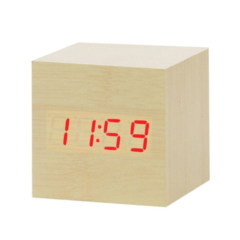 Modern Digital Wood Clock