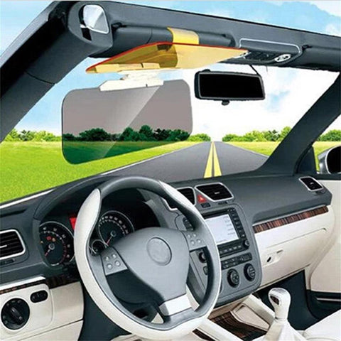 TRANSPARENT ANTI-GLARE SUN VISOR - HELPS PREVENT BLINDING GLARE