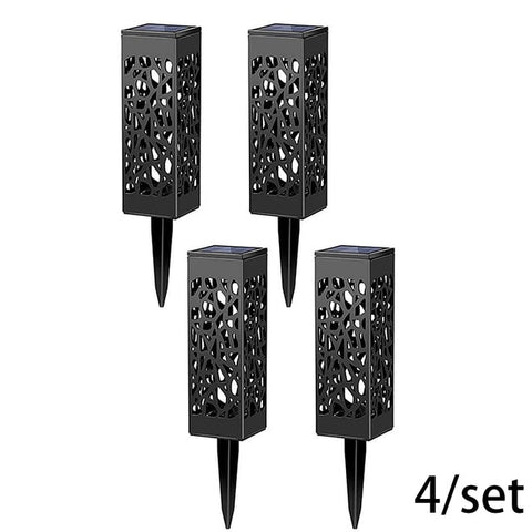 4pcs Tower Solar Lanterns