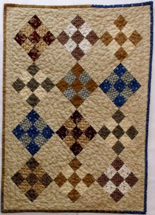 Nine Patch Doll Primitive Quilt Pattern