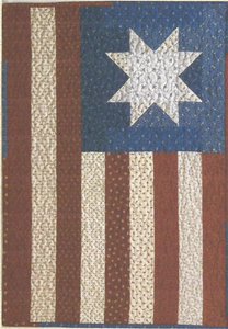 Primitive Mini Flag Patriotic Quilt Pattern
