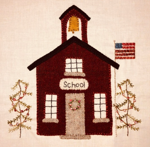 Village Schoolhouse - Christmas Village Sew a Long Digital Pattern