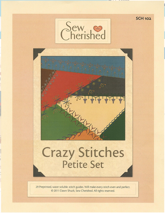 Petite Crazy Stitches From Sew Cherished