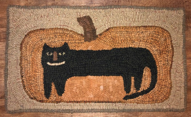 Silly Cat Primitive Rug Hooking Pattern