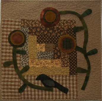 Bird on a Vine Primitive Quilt Pattern - Digital Download