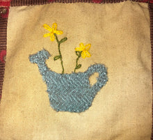 Load image into Gallery viewer, Mini Wool Block Quilt Weekly Sew Along - Block 10 Watering Can
