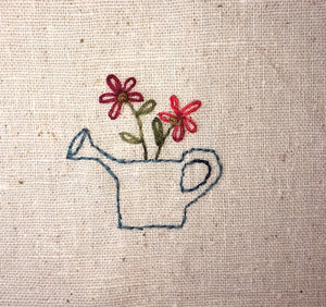 Mini Wool Block Quilt Weekly Sew Along - Block 10 Watering Can