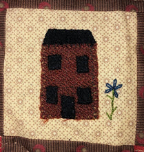 Load image into Gallery viewer, Mini Wool Block Quilt Weekly Sew Along - Block 11 House