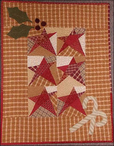 Star Canes & Holly Primitive Pattern - Digital Download