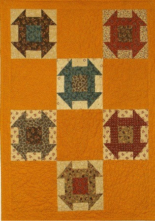 Cheddar Churn Primitive Quilt Pattern