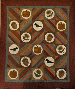 Folksy Fall Primitive Quilt Pattern