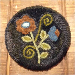 Folksy Flower Primitive Rug Hooking Pattern