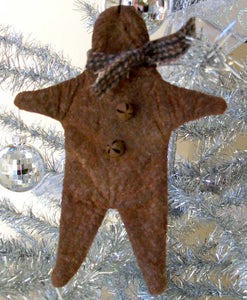 Primitive Gingerbread Christmas Ornament