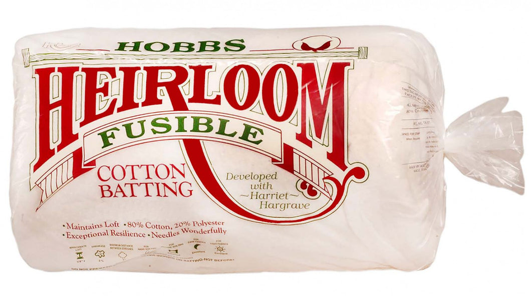 Batting Heirloom Premium Fusible Cotton Blend 45in x 60in