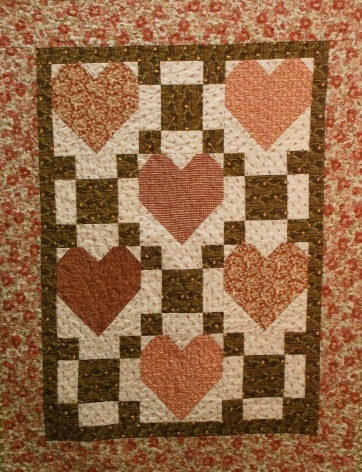 Be Mine Primitive Quilt Pattern - Digital Download