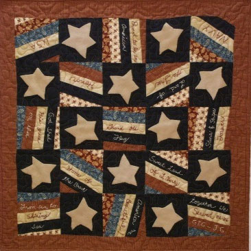 Give Me Liberty Primitive Quilt Pattern - Digital Download