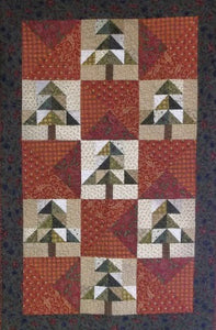 Merry Christmas in July Primitive Quilt Pattern - Digital Download